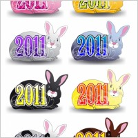 Link to2011 rabbit pattern vector