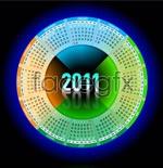 Link to2011 round calendar vector