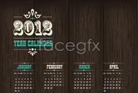 Link to2012 black calendar template vector
