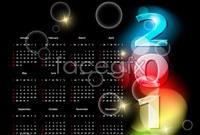 Link to2012 black gorgeous calendar template vector