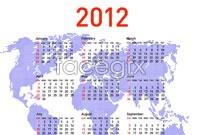 Link to2012 calendar design vector