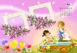 Link to2012 calendar of children ps psd