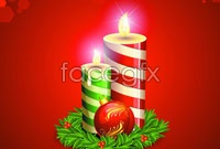 Link to2012 christmas candle vector
