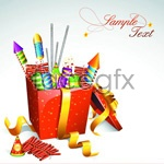 Link to2012 christmas gifts vector