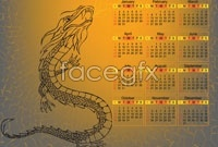 Link to2012 dragon calendar vector 2