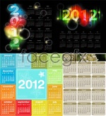 Link to2012 elegant calendar vector