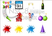 Link to2012 new year desktop icons