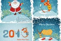 Link to2013 cartoon christmas background