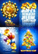 Link to2013 christmas design elements vector