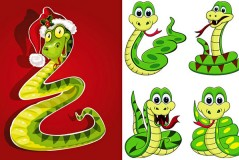 Link to2013 lucky cartoon snake vector