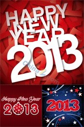 Link to2013 new year background vector