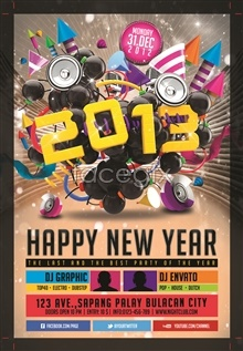 Link to2013 new year fashion trend music posters psd templates