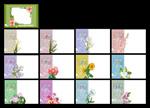 Link to2013 new year flowers desk calendar psd