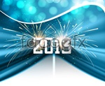 Link to2013 new year hanging flags vector