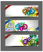 Link to2013 wordart banner vector