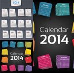 Link to2014 calendar template vector