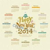 Link to2014 calendar vector graphics