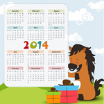 Link to2014 cartoon calendar vector
