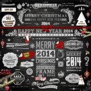 Link to2014 christmas black decoration and labels vector 02