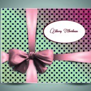 Link to2014 christmas bow greeting card vector set 01
