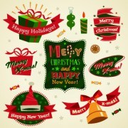 Link to2014 christmas cute ornaments elements vector 01