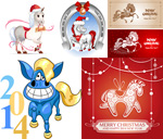 Link to2014 christmas horse vector