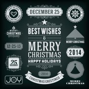 Link to2014 christmas labels and borders with ribbon vector 02