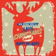 Link to2014 christmas with holiday retro style background vector 02