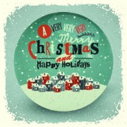 Link to2014 christmas with holiday retro style background vector 04 free