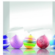 Link to2014 colored christmas balls background vector 01