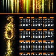 Link to2014 fireworks calendar vector