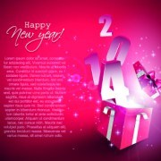 Link to2014 gift box vector background 02