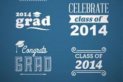 Link to2014 graduates tag vector