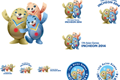 Link to2014 incheon asian games mascot design vector