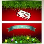 Link to2014 merry christmas vector cards set 02