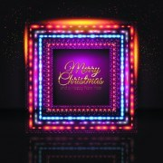 Link to2014 new year christmas colored light frame vector 03