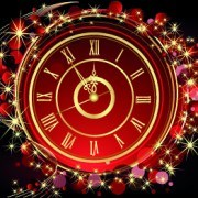 Link to2014 new year clock background set 01 vector