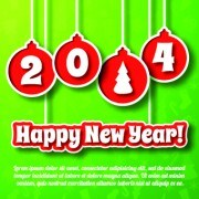 Link to2014 new year poster background vector design 03