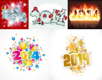 Link to2014 new year theme vector