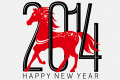 Link to2014 red horse vector chinese new year poster