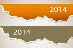 Link to2014 torn paper banner design vector