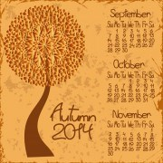 Link to2014 year calendar vector set 02