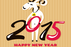 Link to2015 cartoon goat background vector