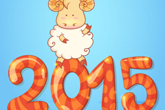 Link to2015 cartoon sheep background vector