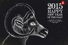 Link to2015 chalk goat background vector