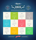 Link to2015 fashion calendar vector
