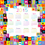 Link to2015 letter almanac vector