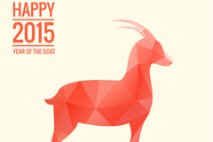 Link to2015 red geometric-shaped goat vector