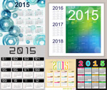 Link to2015 square calendar vector