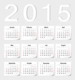Link to2015 sticker calendar vector